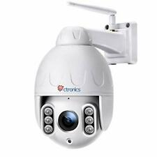 5MP PTZ Security Camera Outdoor with 5X Optical Zoom, Ctronics Wifi CCTV Camera