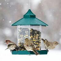 Garden Hanging Seed Feeder Peanut Nut Food Feeding Station 1L for Wild Birds Pet