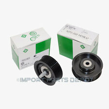 New Drive Belt Idler Pulley (Smooth & Grooved) Mercedes INA OEM 1419/1019 (2pc)