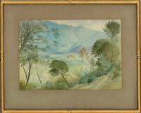Early 20th Century Watercolour - Mountainous Landscape with Trees