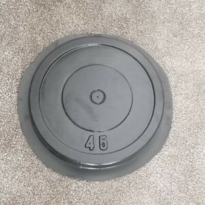 Make your own plates! DIY 45LB Olympic Concrete Weight Mold.