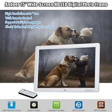 "Andoer 15"" HD LED Digital Photo Frame Album Electronic Picture Frame Clock U7Y1"