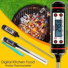 Digital Kitchen Cooking Thermometer Probe Food BBQ Meat Steak Turkey Wine Fridge