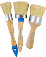 Chalk Paint Furniture Brushes Kit 3 Boar Bristles Paint Brushes. 3 Sizes/Styles