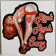 Rink Rash is Sexy Sticker, Roller Derby decal, Roller Skating, stick on helmets