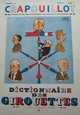 LE CRAPOUILLOT 1957 No 36 DICTIONNAIRE DES GIROUETTES (1)