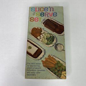 Vintage Slice 'n Serve 2 Piece WM Rogers Silverplate Set Server Tray & Spoon EUC