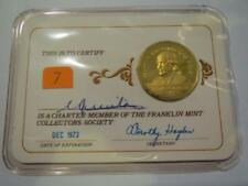 1973 Franklin Mint Collectors Society Silver Member Coin - with Gold Ov... Lot 7