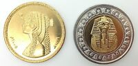 Egypt 2005 King Tut & Cleopatra Uncirculated Two Coins