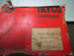 Mercedes Benz 220SE, 220S engine main bearings .050  NOS Glyco H581/4,1805861203