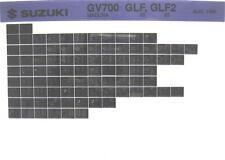 Suzuki GV700 Madura 1985 Parts Catalog Microfiche s377