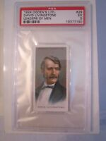 1924 DAVID LIVINGSTONE #29 LEADER'S OF MEN PSA GRADED 5 -TOBACCO CARD -MMMM2