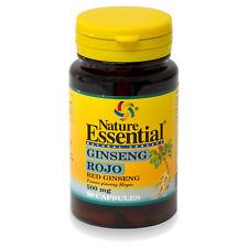 GINSENG ROJO 500 mg. 50 Cápsulas - NATURE ESSENTIAL - Tonificante Energia