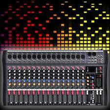 16 Channel Professional bluetooth Live Studio Audio Mixer power mixing Amplifier