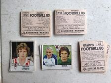 """PANINI'S """"FOOTBALL 80"""" GENUINE STICKERS - COMPLETE YOUR COLLECTION"""
