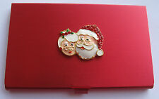 Accoutrement Designs Mr Mrs Santa Claus Needle Bead Scissor Case Magnet Storage