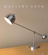 RARE! MID CENTURY MODERN ARREDOLUCE CHROME DESK LAMP! VTG 50'S 60'S EAMES LIGHT