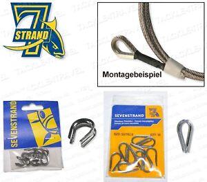 (0,36€/Stk.) 7Strand Schlaufenschutz / Edelstahl Thimbles - 10 Stk. - 2 Größen