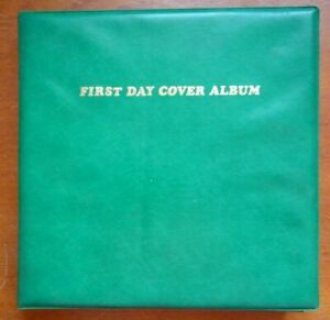 First Day Cover Album complete with collection of 50 GB covers from 1980-2003