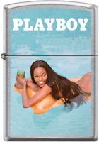 Zippo Playboy June 2016 Cover Street Chrome Windproof Lighter NEW RARE