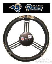 NFL ST LOUIS RAMS LOS ANGELES GENUINE LEATHER STEERING WHEEL COVER CAR TRUCK SUV