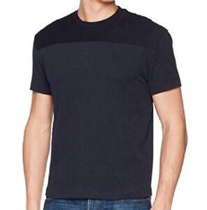 Original Penguin Embroidery Logo Men Boy Thick Cotton T Shirt Dark Sapphire Navy