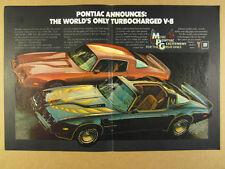 1980 Pontiac Trans Am & Firebird Formula TURBO V8 color photo vintage print Ad