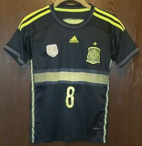 Adidas Black Xavi #8 Spain 2010 World Cup South Africa Soccer Jersey Youth Large