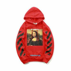 AAA Hoodie OFF White Mona Lisa Print Hoodie Loose Street Wear Sweatshirts~Jumper