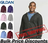 Gildan Mens Blank Heavy Blend Full-Zip Hooded Sweatshirt 18600 up to 5XL