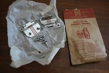 NOS Mid Century RETRO Red & Chrome Cabinet Hinges National Lock Co N58-2354A Set