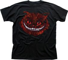 EVIL CHESHIRE Cat Alice in Wonderland All Mad here Hatter black t-shirt 9583