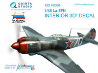 Quinta QD48066 1/48 La-5FN 3D-Printed&coloured interior (for Zvezda kit)