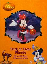 Disney Halloween 30 in Trick or Treat Minnie Mouse Iridescent Fabric Sculpture