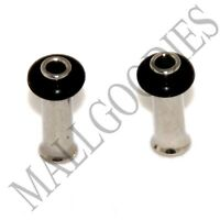 0013 Steel Single Flare Flesh Tunnels Earlets Big Gauges 10G Plugs 2.5mm 1 PAIR