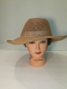 Town Talk Superior Headwear Straw Golfing Hat Outback Wheat One Size