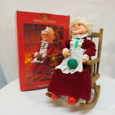 Rocking Mrs.Santa Claus Hums Santa Claus is Coming to Town VTG see description