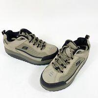SKETCHERS Shape Ups Mens Size 7 Pebble Suede Walking Toning Shoes 50875 Lace Up