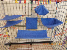 ROYAL BLUE Tie Dye   Sugar Glider 6 pc cage set