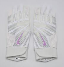 Nike HyperDiamond Edge Batting Gloves White/Pure Platinum Women's Large