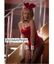 FREE WORLD SHIP Satin Playboy Bunny IN ANY COLOR Ears TAIL ECT COMPLETE Costume