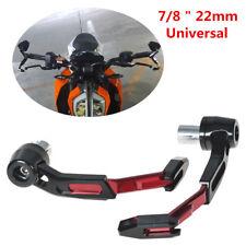 1 Pair CNC Aluminum 22mm Motorcycle Handlebar Protector Brake Clutch Lever Guard