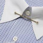Collar Pin, Men's Gold Collar Bars Metal Noble Tie Rods Dress Shirt Collar Pins