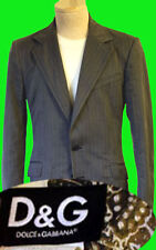 Dolce and Gabbana suit blazer 34 48 38r M pant jacket fitted D&G pinstripe coat