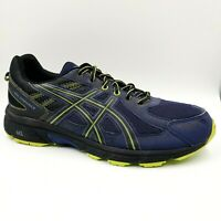 Asics Gel Venture 6 Blue Neon Green Athletic Running Shoes Mens 13 4E Wide T7G3N