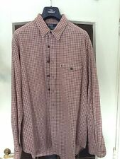 Camicia Polo Ralph Lauren tg XXL colore beige a quadretti marroni