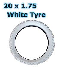 1 x White Tyre 20 x 1.75 (47-406) Bike Bicycle BMX