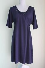 NEW UK 12 L BODEN Blue Dress Lined Short Sleeve Holiday Cruise BNWT (11)