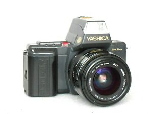 Yashica 230 AF Data Back Mirror Reflex Camera With 3 Lenses and Bag # Top#