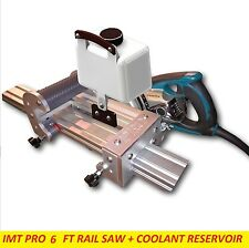 IMT Professional Wet Cutting Makita Motor Rail Track Saw for Granite- 6 FT Rail